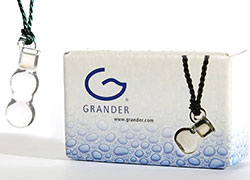 The Pendant is filled with pure, precious Grander Information Water.